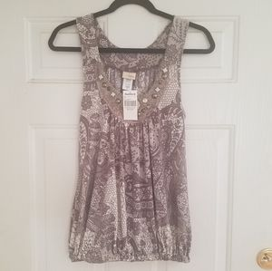 NWT Daytrip by Buckle Sleeveless Blouse Size M